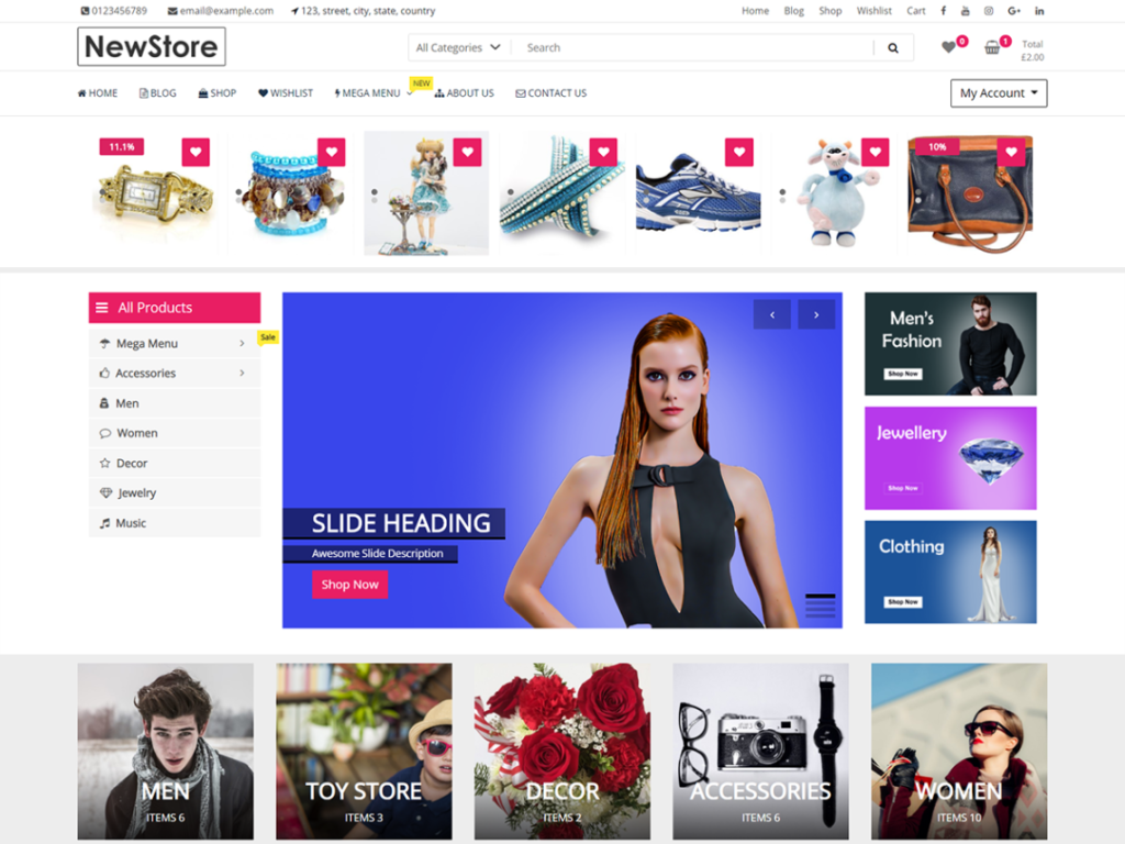 NewStore Woocommerce WordPress theme