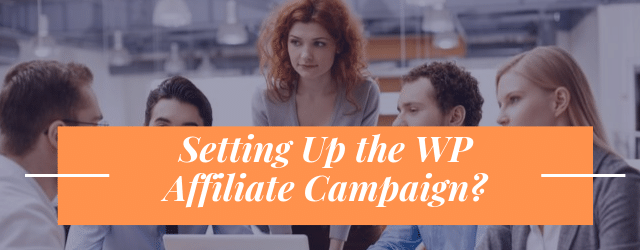 Setting Up The WP Affiliate Campaign