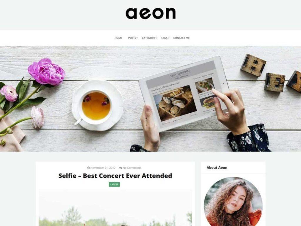 Aeon - Free WordPress Theme