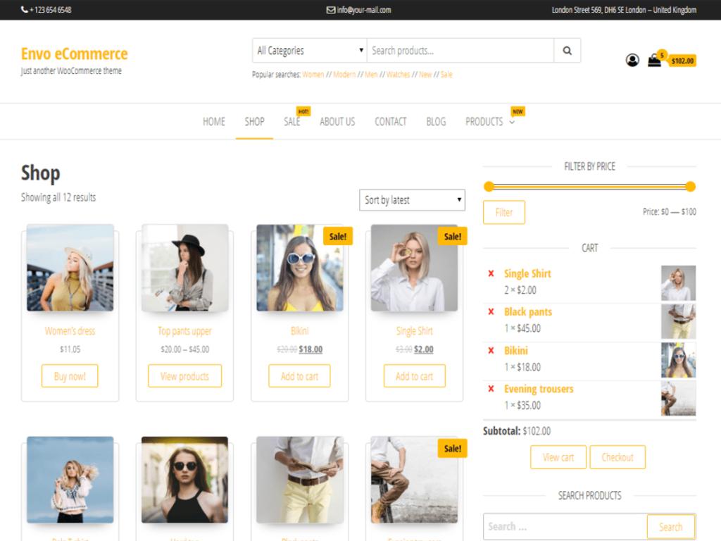 Envo Ecommerce - Free WooCommerce Theme