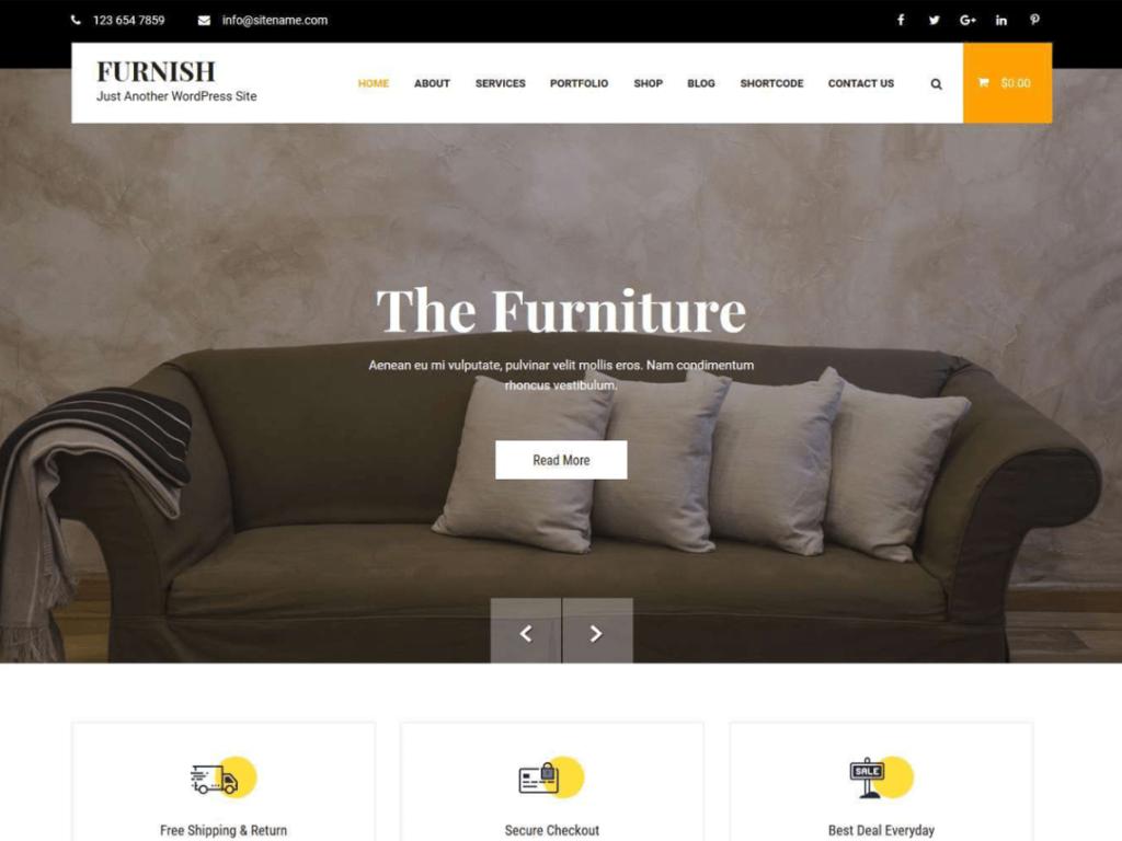 Furnish - Free WordPress Theme