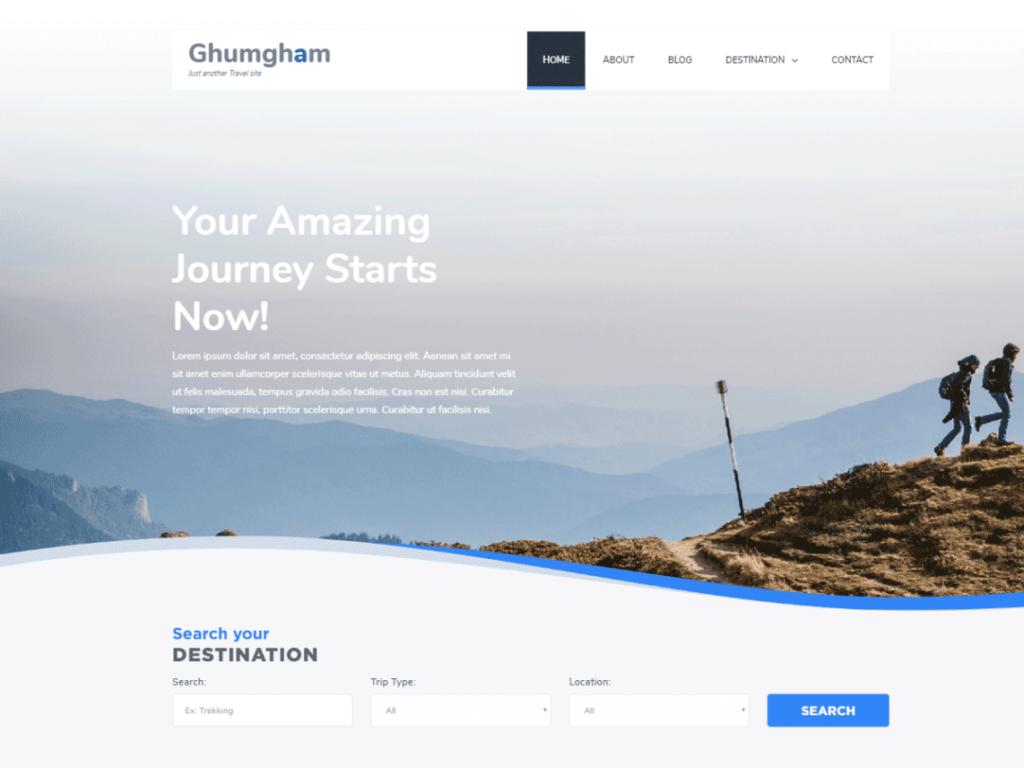 Ghumgham blog theme