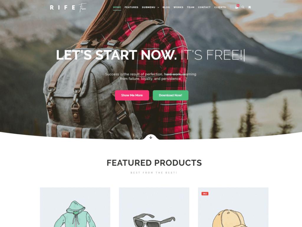 Rife - Free Multipurpose WordPress Theme