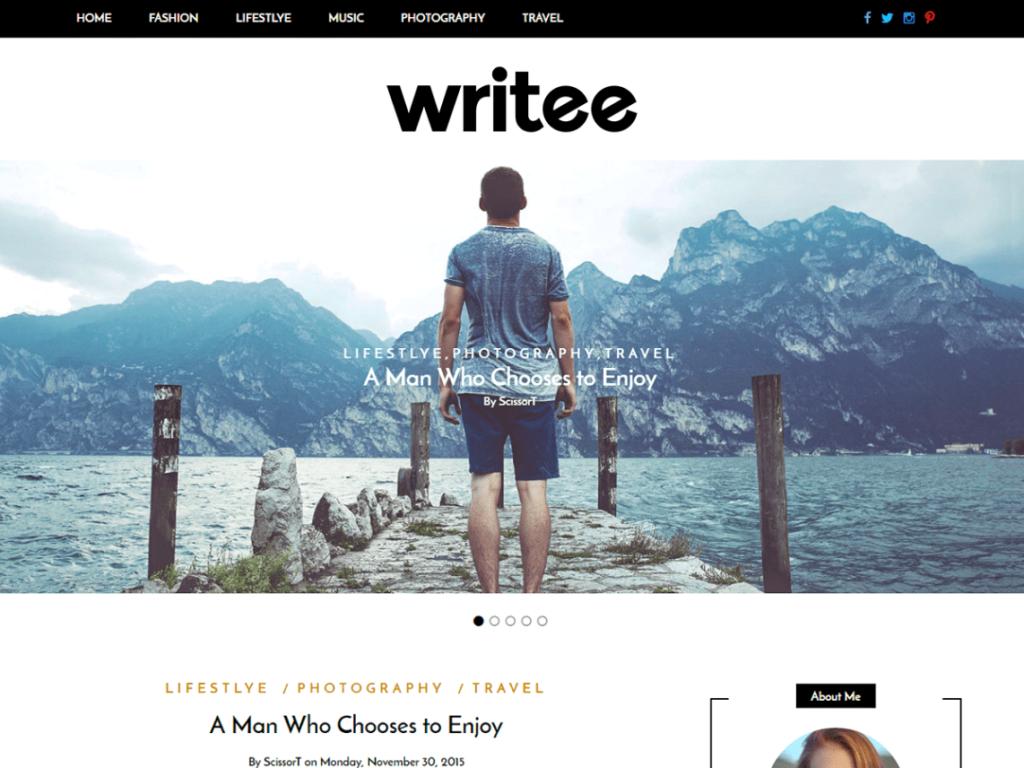 Writee- Blog Free WordPress Theme