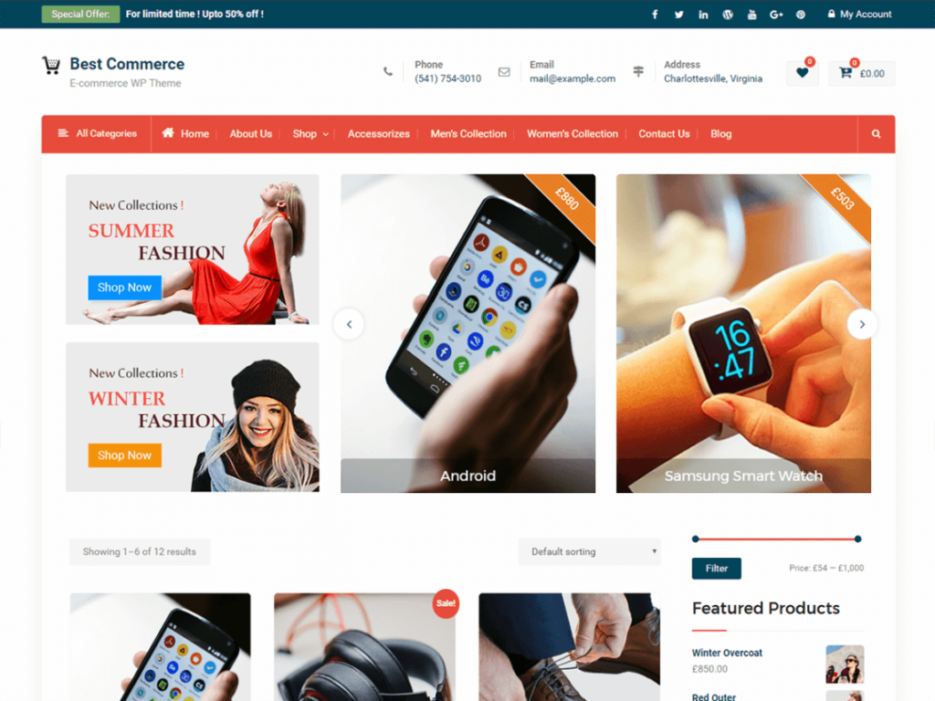 Best Commerce- Free WordPress WooCommerce Theme