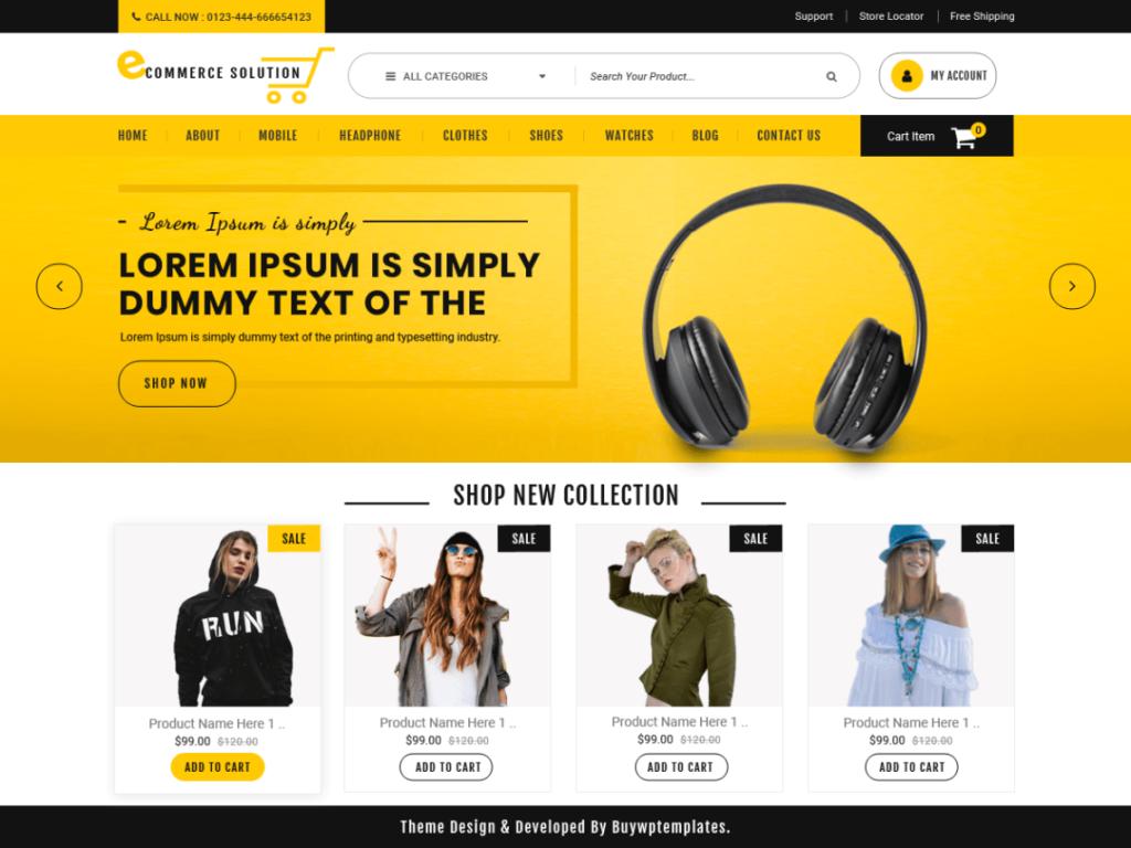 Ecommerce Solution- Free WordPres Ecommerce theme