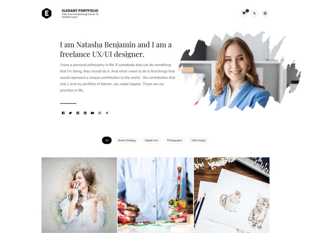 Elegant portfolio- Free Multipurpose theme