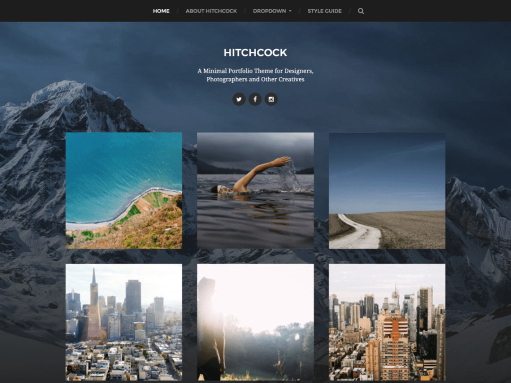 Hitchcock- Free WordPress Multipurpose Theme