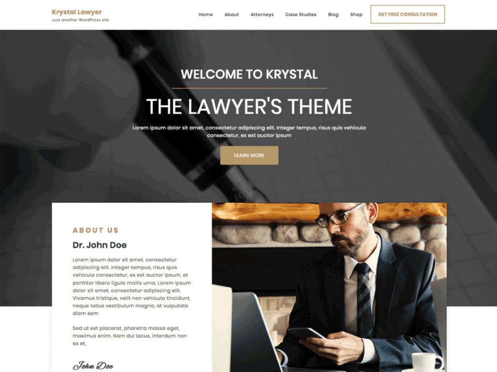 Krystal Lawyer- Free WordPress Business Theme
