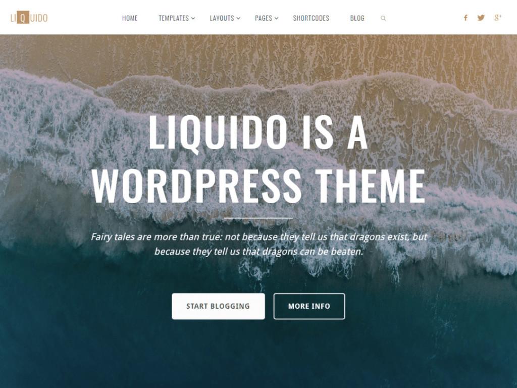 Liquido-Free WordPress Blog Theme