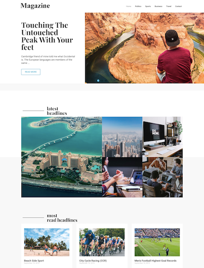Magazine – Responsive Ready Site