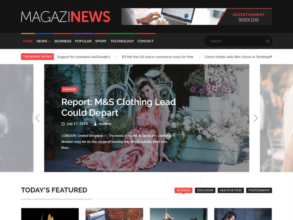Magazinews WordPress Magazine theme