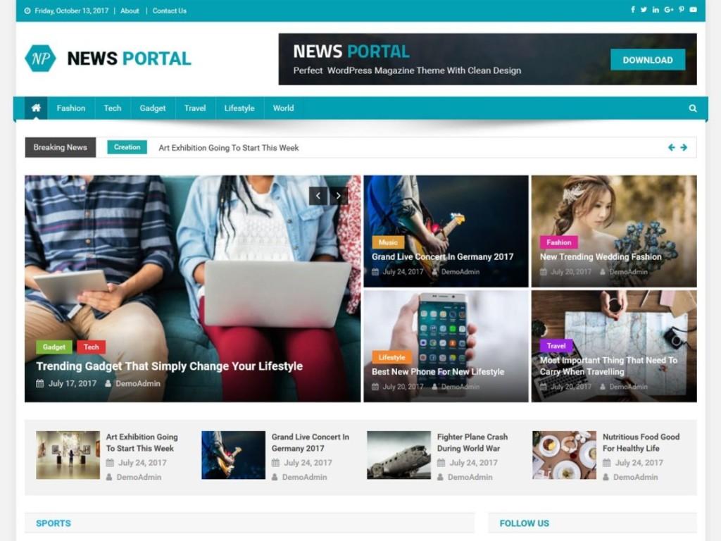 News Portal- Free WordPress News Theme