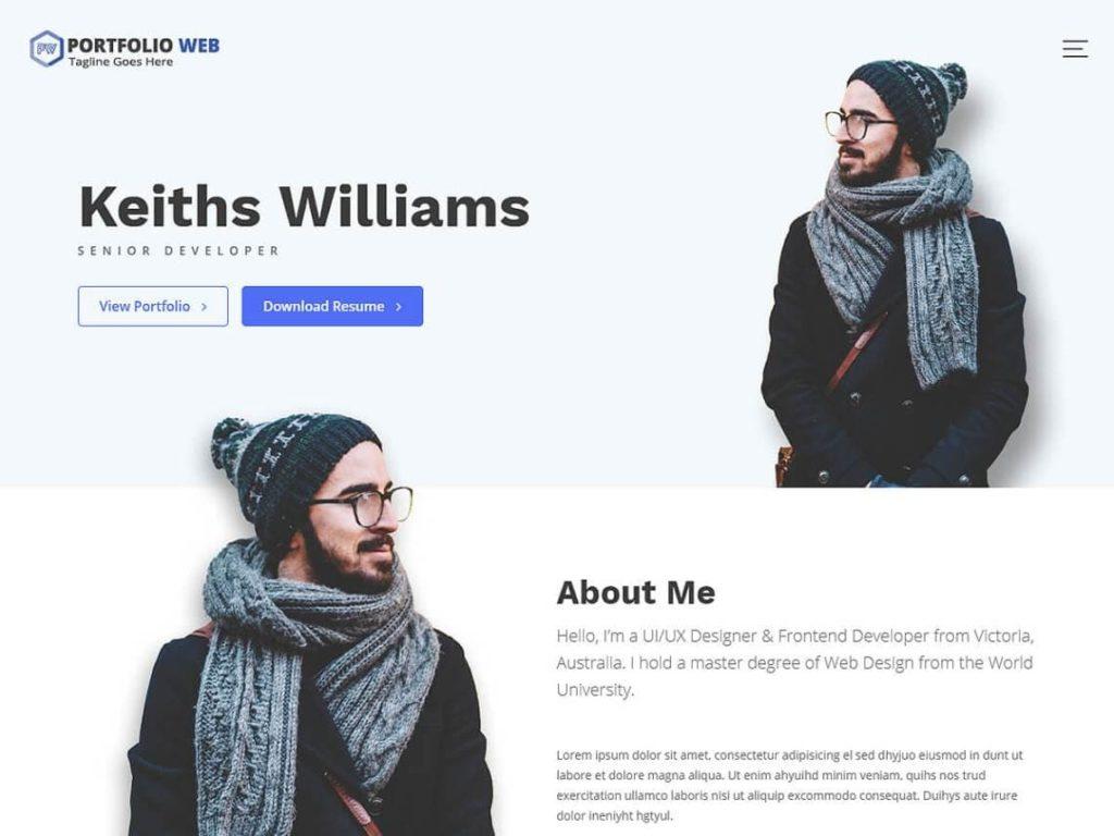 Portfolio Web Free WordPress Multipurpose Theme (1)