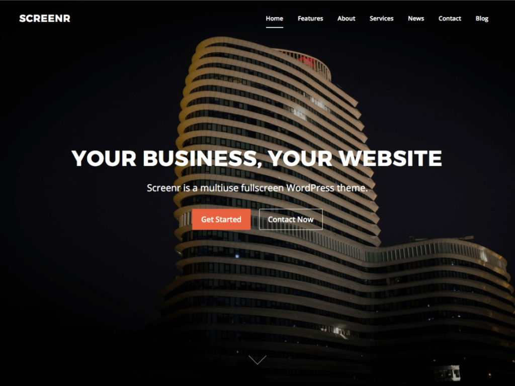 Screenr Free WordPress thmes
