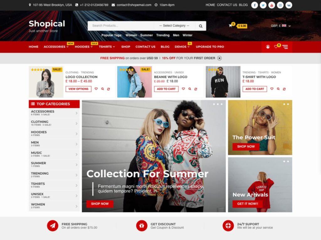 Shopical WordPress Ecommerce Theme