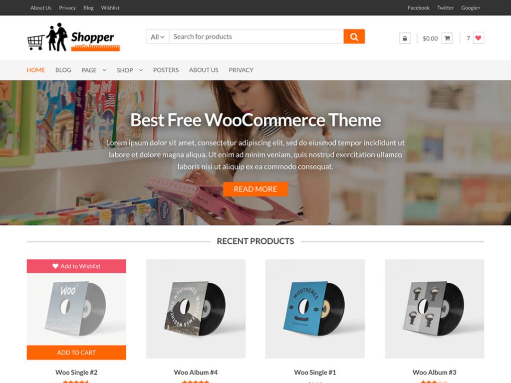 Shopper-Free WordPress Ecommerce Theme