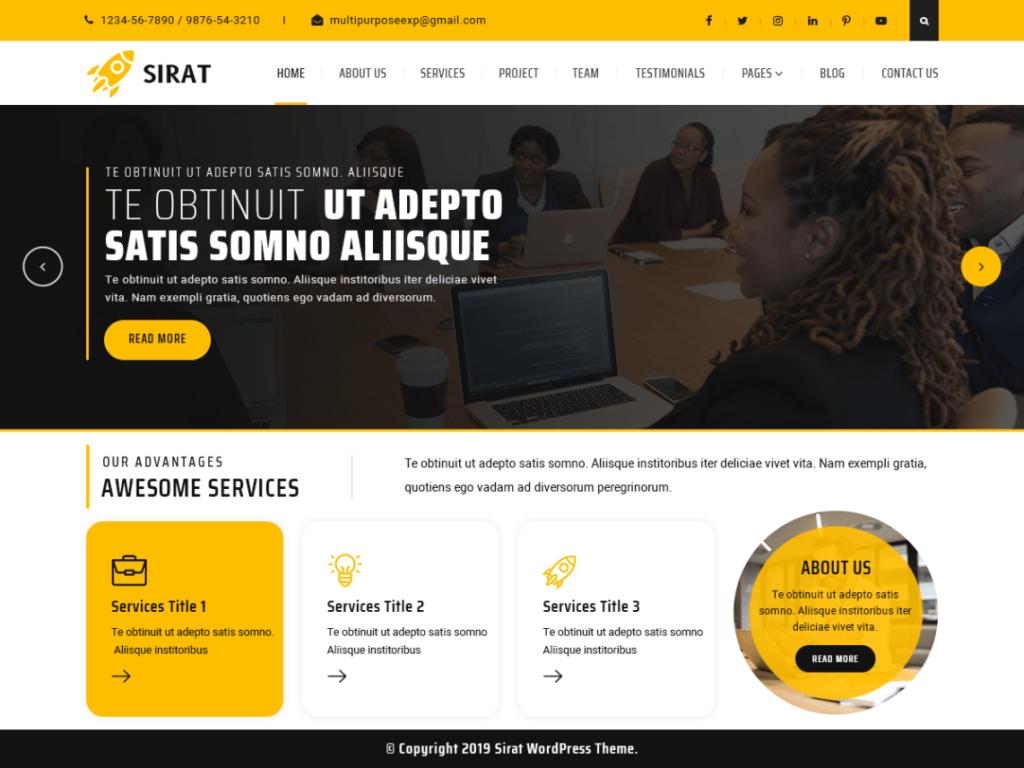 Sirat- Free Multipurpose Theme