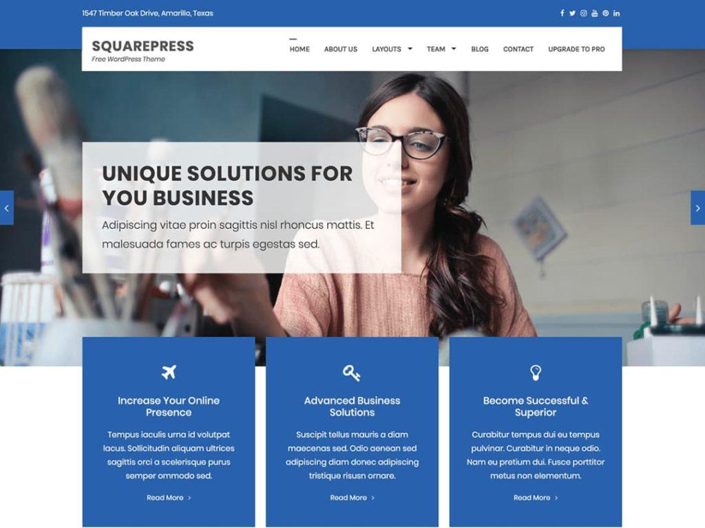 SquarePress - WordPress Multipurpose theme