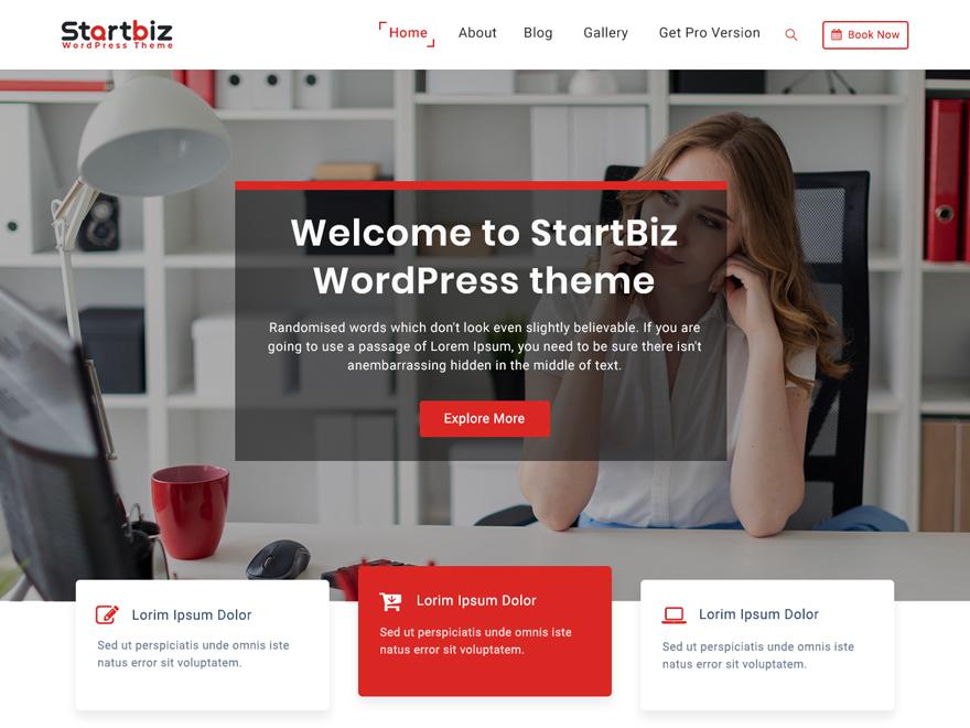 StarBiz-Free WordPress Business Theme