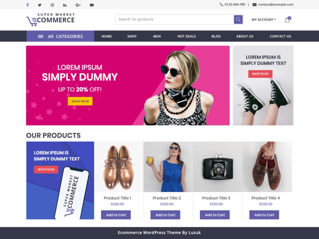 Supermarket - Free WordPress Ecommerce Theme