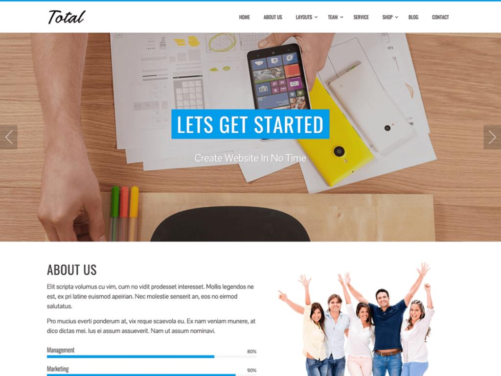 Total Free WordPress Theme
