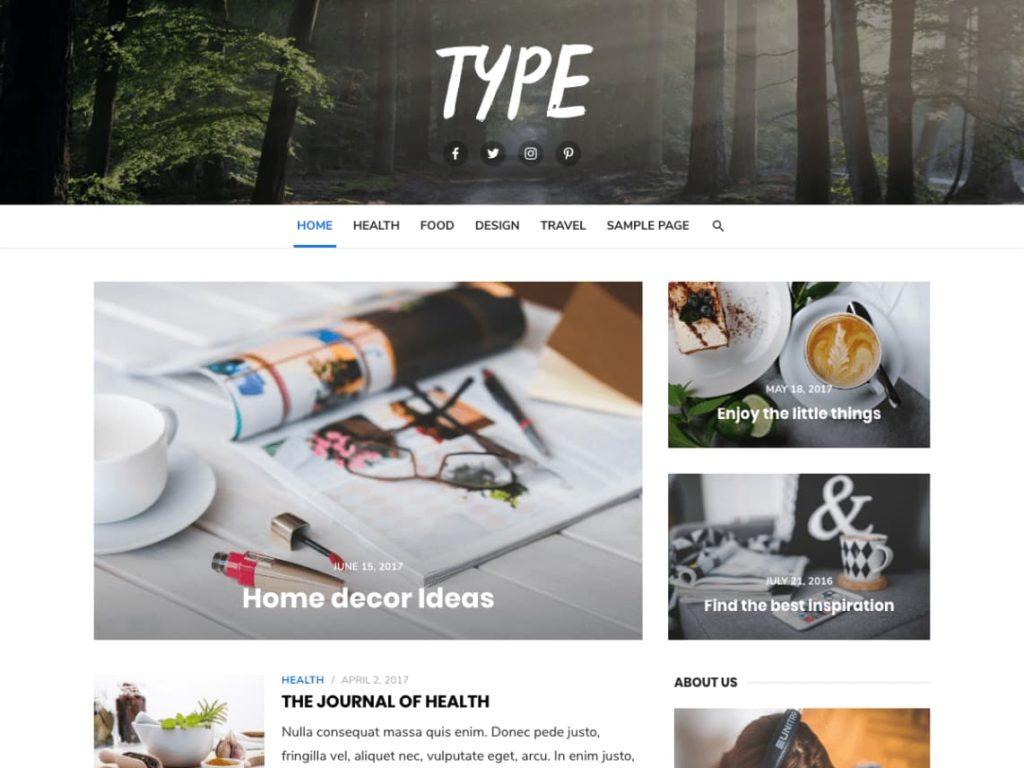 Type- WordPress Blog Theme