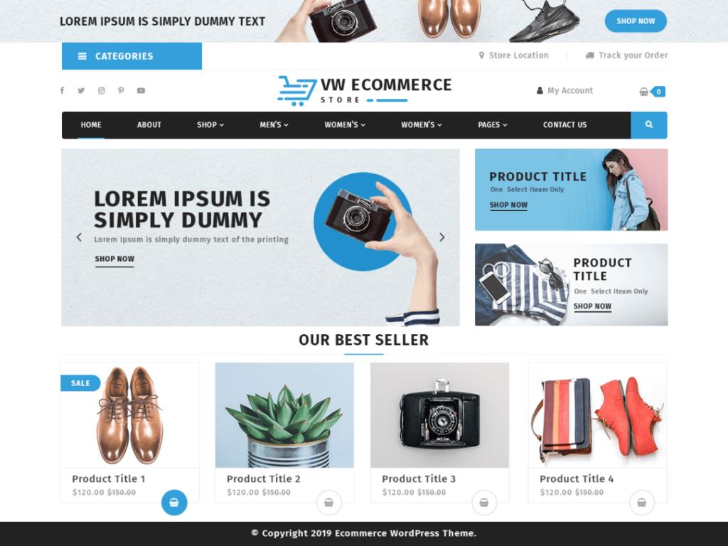 VW Ecommerce Store- Free WordPress Theme