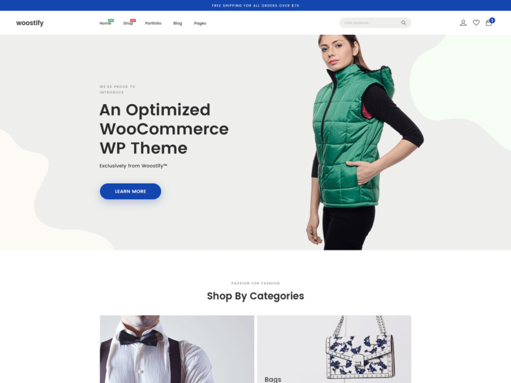 Woostly -Free WordPress Ecommerce Theme