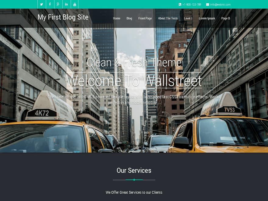 Wallstreet-WordPress Business Theme