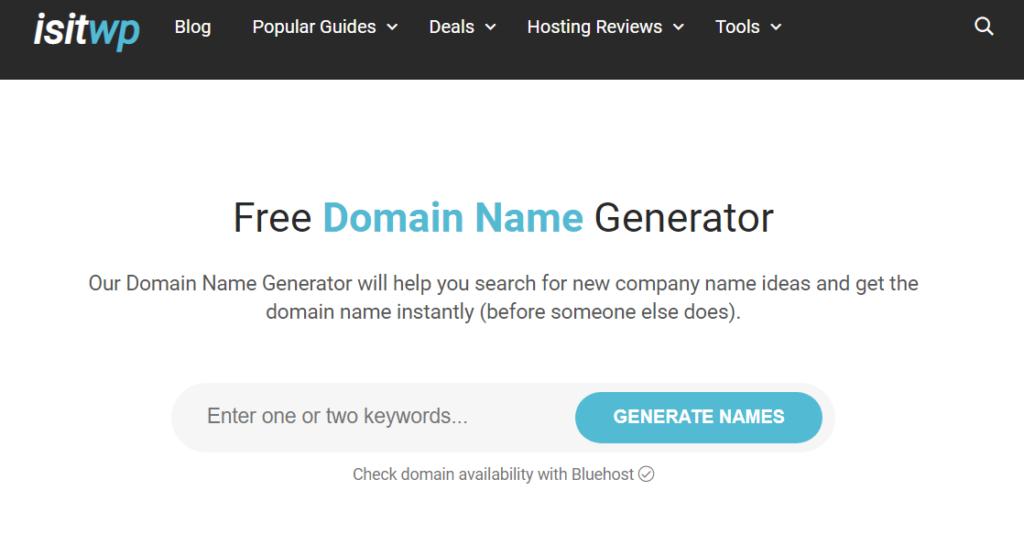 isitwp- Domain Name Generator