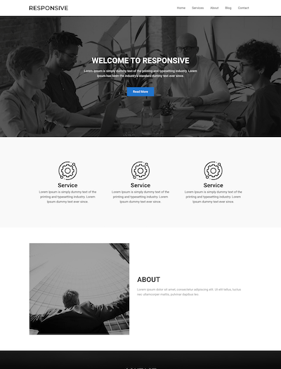 One Page Business WordPress responsive theme