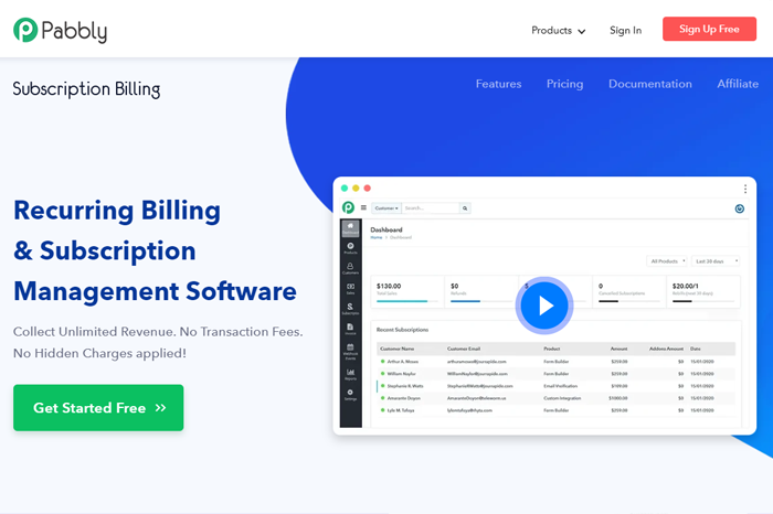 Pabbly Subscription Billing Software
