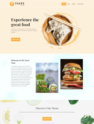 Restaurant Ready Site Template