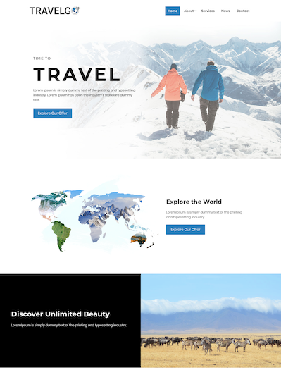 Travel agency WordPress premium template