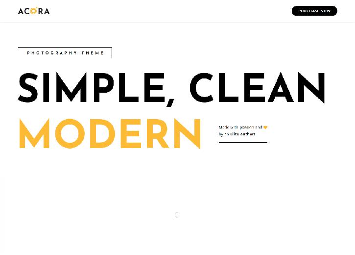 Acora WordPress Theme For Photographers