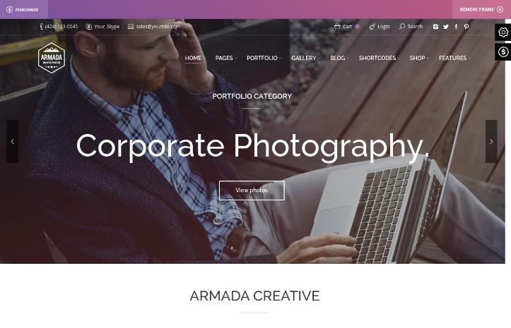 Armada Photography WordPress Theme
