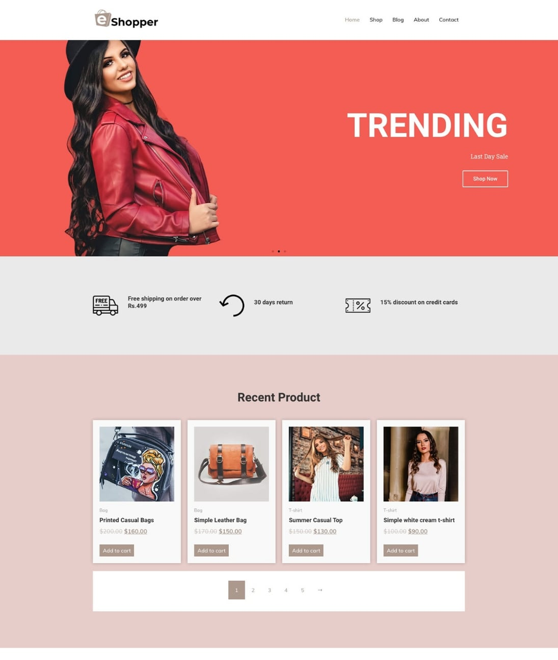 Ecommerce Fashion template by CyberChimps