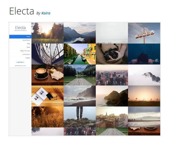 Electa Photography WordPress Theme