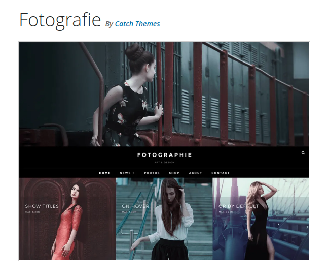 fotografie wordpress theme