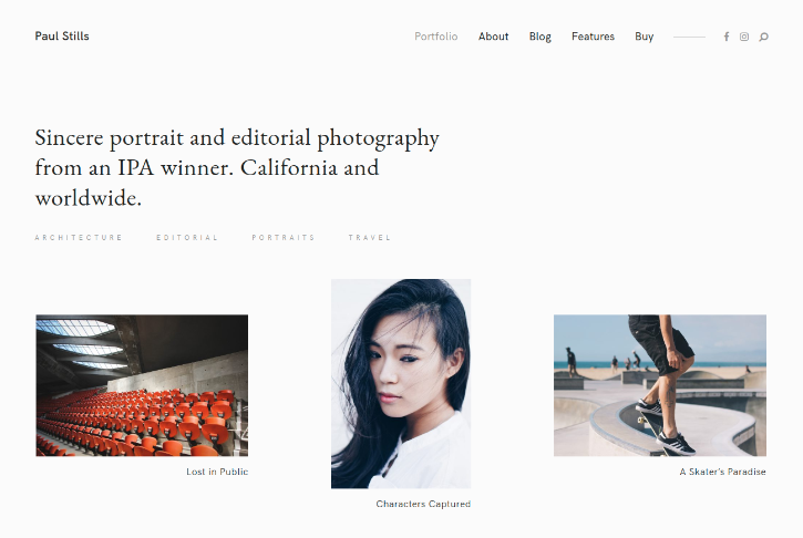 Photography Theme For Photographers