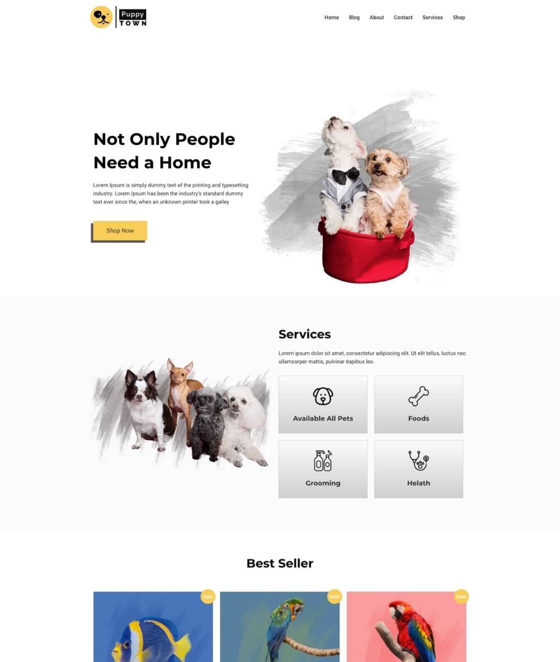 Pet shop template by CyberChimps