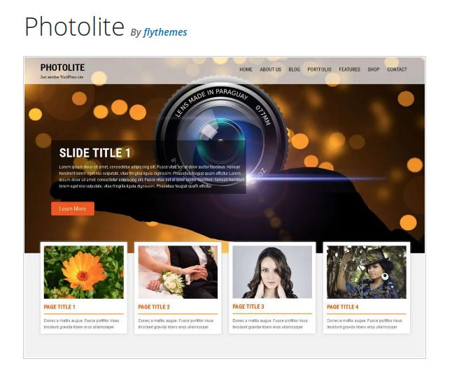 photolite wordpress theme