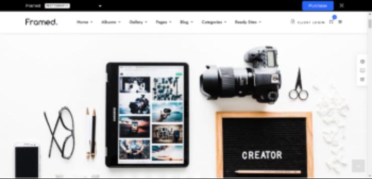 Framed WordPress Photography Theme