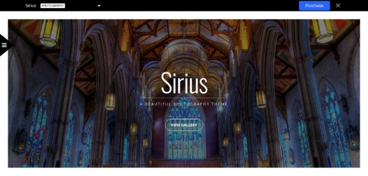 Sirius WordPress Photography Theme