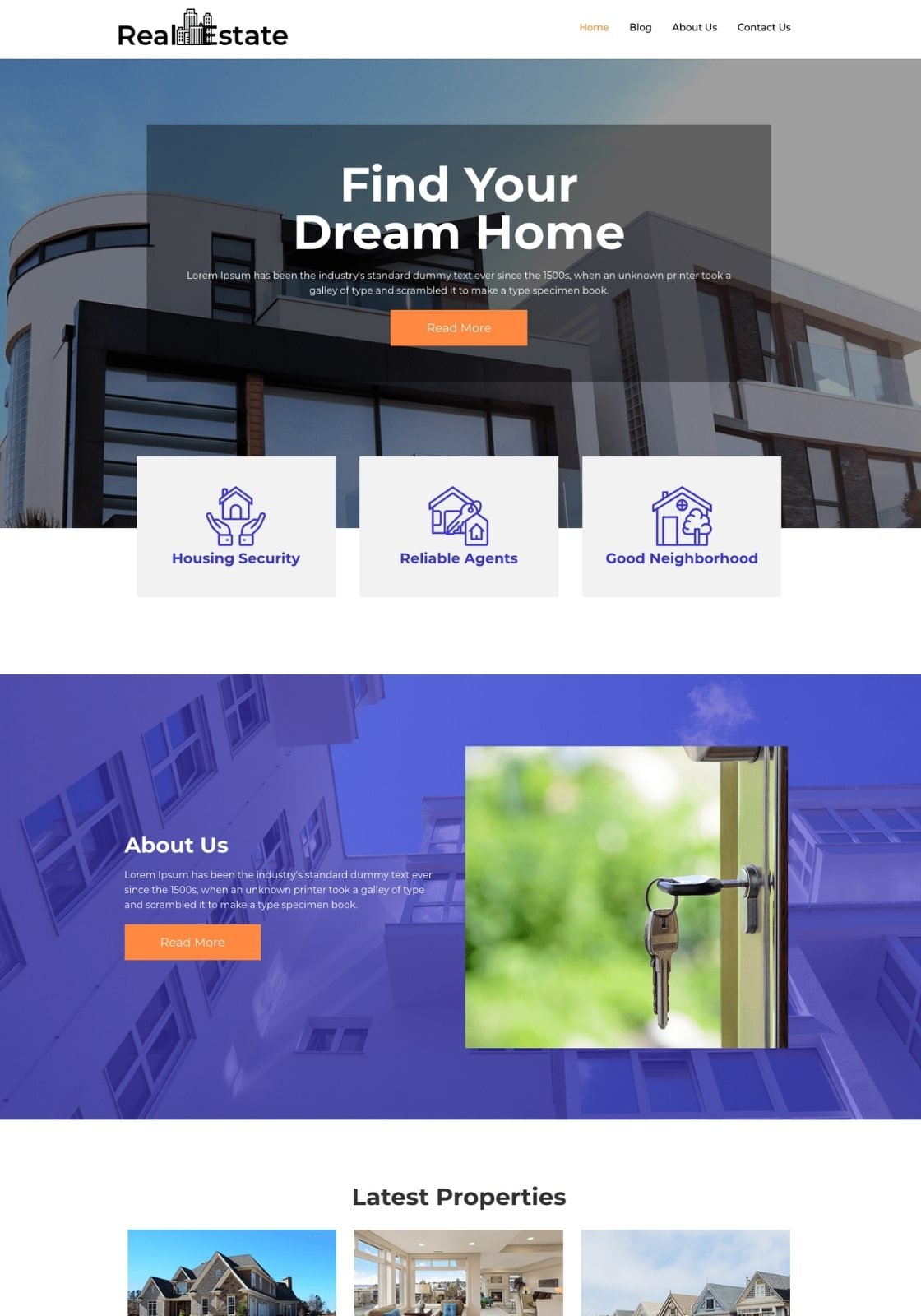 free WordPress real estate theme