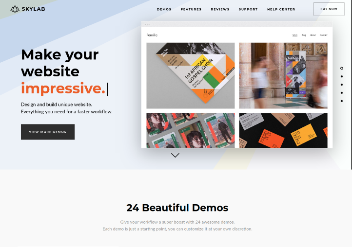 SKylab WordPress Photography Theme