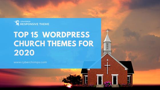 Top 15  WordPress Church Themes For 2020
