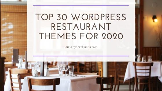 Top 30 WordPress Restaurant Themes for 2020