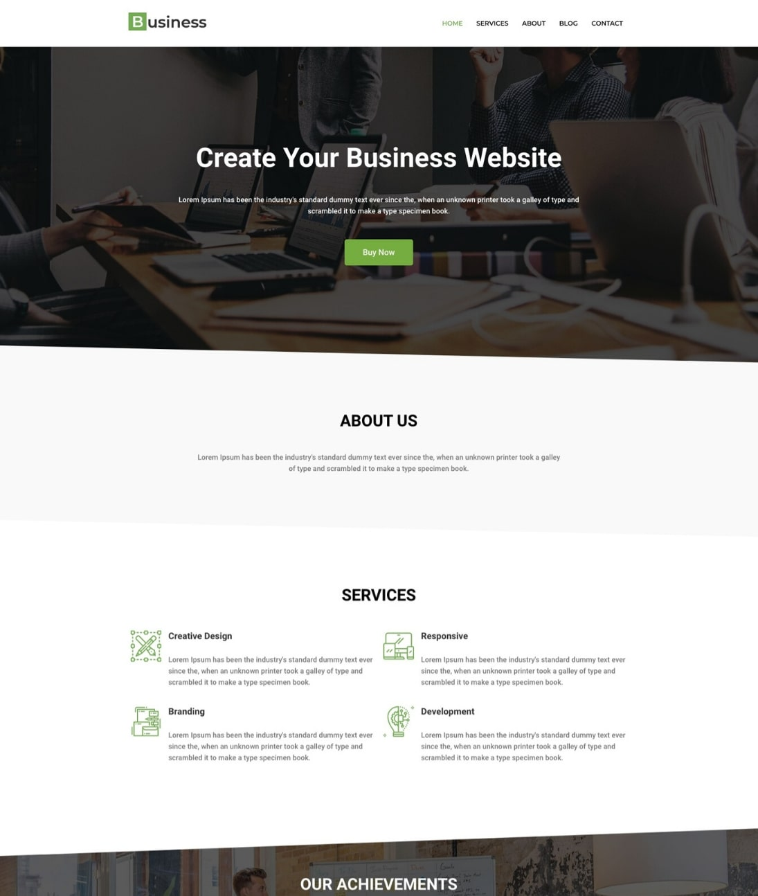 WordPress Business template by CyberChimps